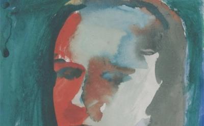 (detail) Richard Diebenkorn, Untitled, 1957, gouache on paper (© The Richard Die