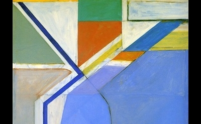 (detail) Richard Diebenkorn, Ocean Park No. 24, 1969 (courtesy of Yale Universit