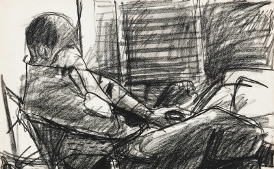 Richard Diebenkorn, Untitled from Sketchbook #20, page 45, (1943–93) Gift of Phy