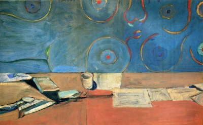 Richard Diebenkorn, Large Still Life, 1966, oil on canvas, 64 1/2 x 1/4 inches (The Museum of Modern Art, New York, gift of the family of Richard Diebenkorn)