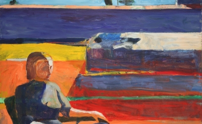 (detail) Richard Diebenkorn, Woman on Porch, 1958 (New Orleans Museum of Art)