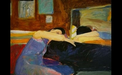 (detail) Richard Diebenkorn, Sleeping Woman, 1961, oil on canvas (© 2013 The Ric