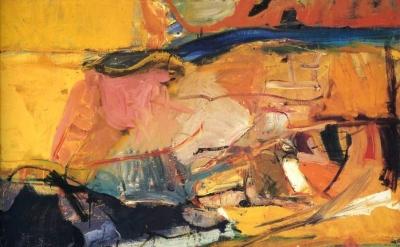 (detail) Richard Diebenkorn, Berkeley #57, 1955 (San Francisco Museum of Modern