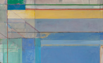 (detail) Richard Diebenkorn, Ocean Park #79, 1975 (Philadelphia Museum of Art. P