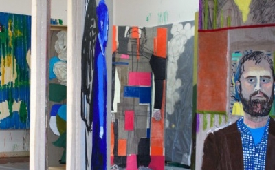 Dona Nelson, Studio View (courtesy of Thomas Erben Gallery)