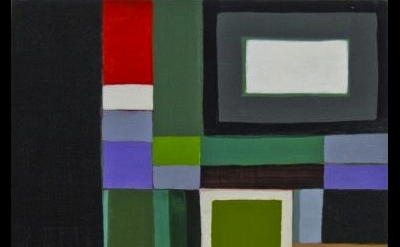 (detail) Karen Dow, Corner Pocket, 2012, 8 x 8 inches, acrylic on panel (courtes