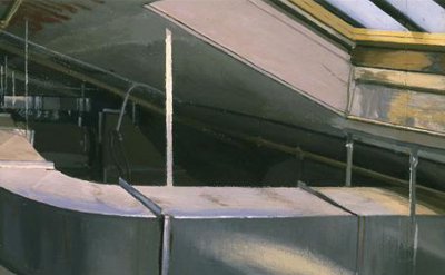 (detail) Rackstraw Downes painting (courtesy of Betty Cuningham Gallery)