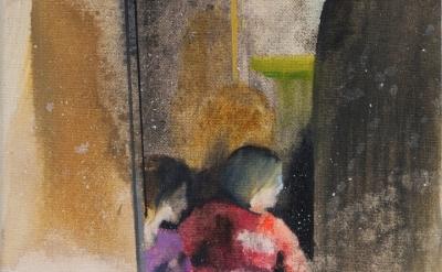 (detail) Kerstin Drechsel, If You Close the Door 89, 2008-2010, oil on canvas, 1