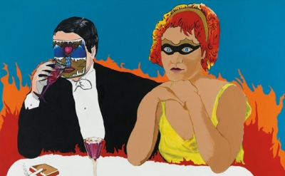Rosalyn Drexler, Last Call (Marlene Dietrich in Hell), 1988 Acrylic and paper co