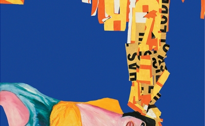 (detail) Rosalyn Drexler, The Dream, 1963, acrylic and paper collage on canvas, 40 x 30 inches (courtesy of Garth Greenan Gallery)