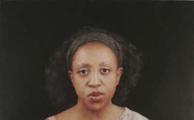 T.B. with black ground 2012 oil on canvas 38 x 50