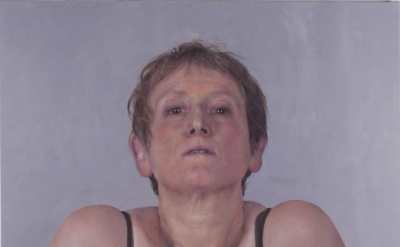 Jenny Dubnau, Self-Portrait Shrugging, 2014, 42 x 36 inches, oil on canvas (cour