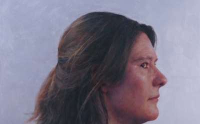 (detail) Jenny Dubnau, C.H., profile, 2012, oil on canvas, 36 x 36 (courtesy of the artist)