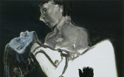 Marlene Dumas, The Image as Burden, 1993, Oil on canvas, 40 x 50 cm. (Private co