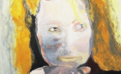 (detail) Marlene Dumas, Evil is Banal, 1984, oil on canvas, 125 x 105 cm, collec