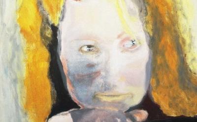 (detail) Marlene Dumas, Evil is Banal, 1984, oil on canvas, 125 x 105 cm, collec
