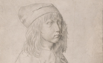 (detail) Albrecht Dürer, Self-Portrait, 1484 (courtesy Albertina Museum, Vienna