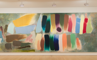 Installation view, Epic Abstraction: Friedel Dzubas in the 1970s at Loretta Howa