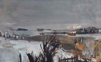 Joan Eardley, Fields Under Snow, 1958 (photo: Estate of Joan Eardley. All Rights Reserved, DACS 2016)
