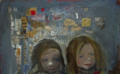 Joan Eardley, Children and Chalked Wall 3, 1962-63, oil, newspaper and metal foil on canvas (Collection of the National Galleries of Scotland, purchased 1963. © Estate of Joan Eardley. All Rights Reserved, DACS 2016. Photo: Antonio Reeve)