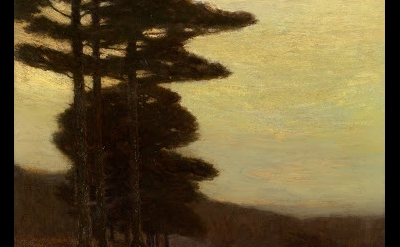 (detail) Charles Warren Eaton, Forest Edge, 1904, oil on canvas, 30 × 28 inches,
