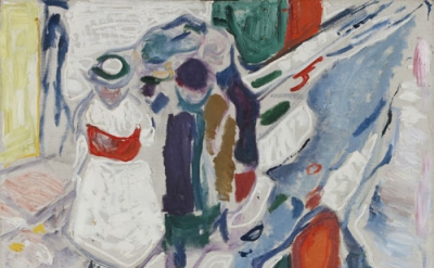 Edvard Munch, Enfants dans la rue, 1910-15, Oil on canvas, 91.5 x 100 cm. © Munc