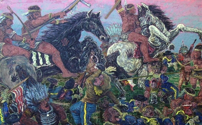 Paul Edwards, Custer's Last Stand, 72 x 79 inches (courtesy of the artist)