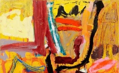 (detail) Elisabeth Cummings, Mostly Fine, 2011, Oil on canvas, 45 x 45cm (courte