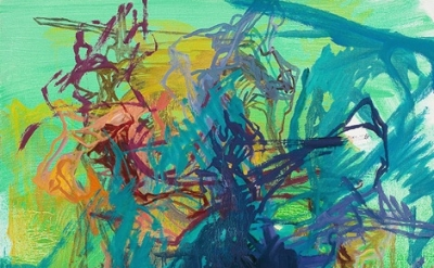(detail) Elizabeth Gilfilen, Untitled, 2011, oil on canvas, 28 x 19.5 inches (co