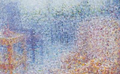 Eric Elliott, Dissolving Studio, 2012, oil on canvas, 30 x 40 inches (courtesy o