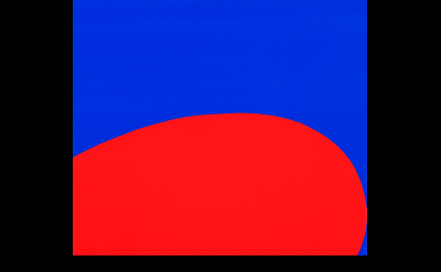 (detail) Ellsworth Kelly, Red/Blue (Untitled), 1964, © Ellsworth Kelly and Wadsw