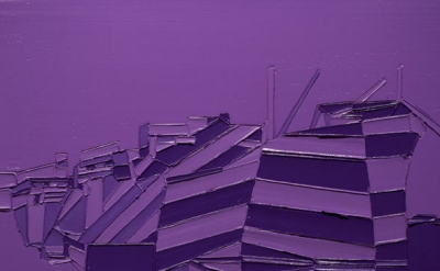(detail) Stuart Elster, In Dazzle Purple, 17 x 23 inches, oil on canvas, 2012 (c