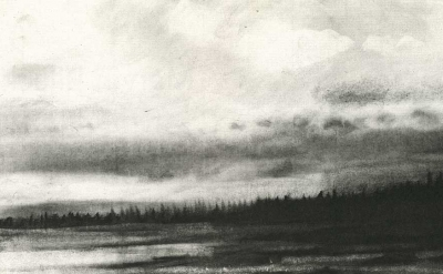 (detail) Emily Nelligan, 1 October 2000, Charcoal on paper, 7 1/4 x 10 1/2 inche