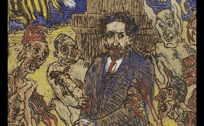 (detail) James Ensor, Demons Teasing Me, 1895
