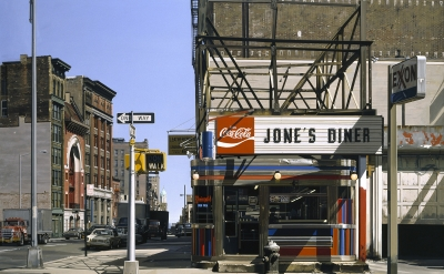 Jone's Diner, 1979, oil on canvas, 36 1/2 x 48 inches (Private collection, copyr