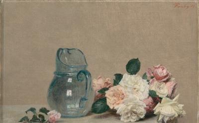 Henri Fantin-Latour, Roses, 1889, oil on canvas, 44 x 56 cm (collection of Musée des Beaux-Arts Lyon, © musée des Beaux-Arts de Lyon, photo by Alain Basset)