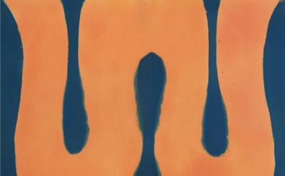Paul Feeley, Caligula, 1960, oil-based enamel on canvas, 81 1/2 x 105 inches (co