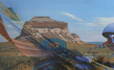Jacob Feige, Flying Lesson, 2009, oil/alkyd on canvas, 48 x 64 inches (courtesy