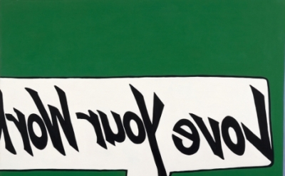 (detail) Rochelle Feinstein, Love Your Work (Part of Love Vibe), 1994–2009 (courtesy die Künstlerin and On Stellar Rays, New York)