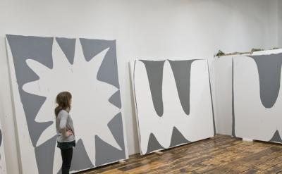 Amy Feldman in her Brooklyn studio (photo by Mary Jones)