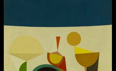 (detail) Frederick Hammersley Growing game, #1 1958, oil on canvas, 40 x 30 inch