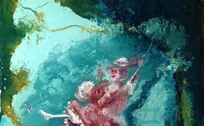 (detail) Genieve Figgis, The Swing after Fragonard, 2014 (courtesy of Half Galle