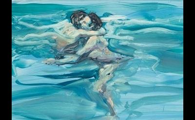 (detail) Eric Fischl, Swimming Lovers, 1984, Öl auf beschichtetem Papier (© cour