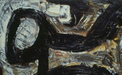 (detail) Louise Fishman, Me and Joe, 1981, oil on linen, 19 x 32 inches (courtes
