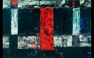 (detail) Louise Fishman, Ashkenazi, 1978, oil on linen, 32 x 48 inches (courtesy