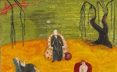 (detail) Florine Stettheimer, Heat, c. 1919, oil on canvas, 50 × 36.5 inches, co