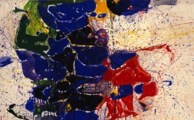 (detail) Sam Francis, Middle Blue #5, 1959-60 (© Sam Francis Foundation, Califor