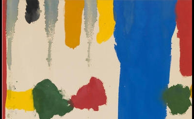 (detail) Helen Frankenthaler, Parade, 1965 (Gagosian Gallery / Helen Frankenthaler Foundation / Artists Rights Society)
