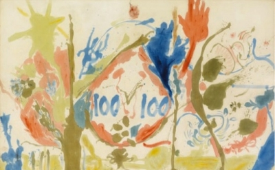 (detail) Helen Frankenthaler, Eden, 1956 (Photo: Robert McKeever/© 2013 Estate o