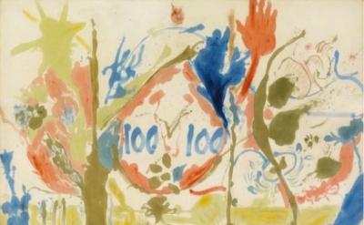 (detail) Helen Frankenthaler, Eden, 1956 (Photo: Robert McKeever/© 2013 Estate o